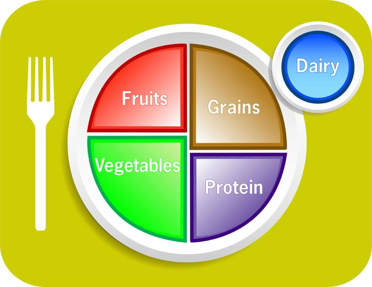 food pyramid food groups to eat