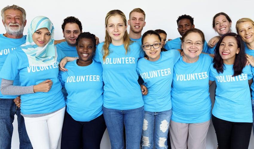 volunteers and non-profit team