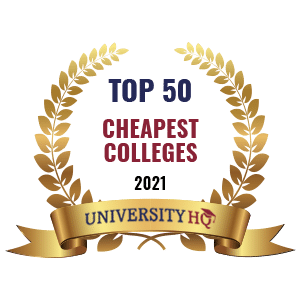 best of badges top 50 cheapest US colleges