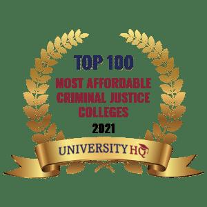 Top 100 Most Affordable Criminal Justice School Programs